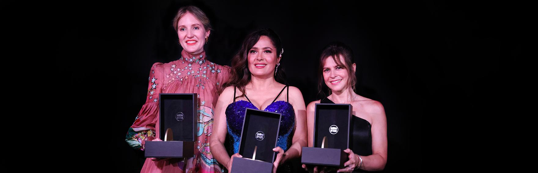 Shannon Murphy, Salma Hayek Pinault et Maura Delpero